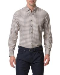 Beige Gingham Long Sleeve Shirt