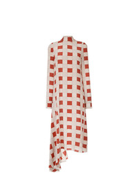 Marni Checked Ruffle Hem Dress