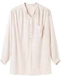 Beige Henley Shirt