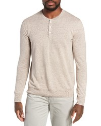 Beige Henley Sweater