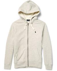 Polo Ralph Lauren Marl Cotton Blend Zip Up Hoodie