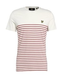 Breton stripe print t shirt pomegranate medium 4160354