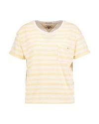 Tommy Hilfiger Print T Shirt Bright Whitedaffodil
