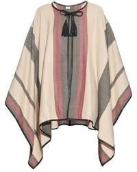 Talitha Multi Striped Cashmere Poncho