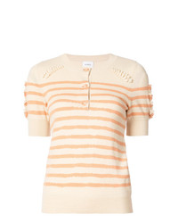 Barrie Striped Button Jumper