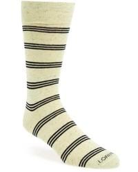 Beige Horizontal Striped Socks