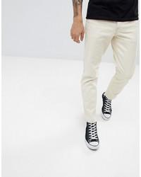 ASOS DESIGN Slim Jeans In Ecru