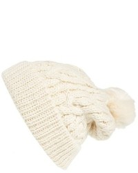 Beige Knit Beanie