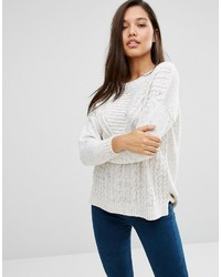 Boohoo Cable Rib Knit Sweater