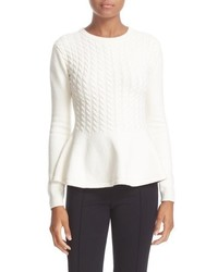 London mereda cable knit peplum sweater medium 817570