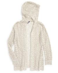 Girls Freshman Hooded Knit Cardigan