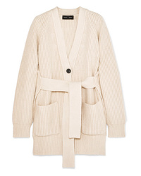 Proenza Schouler Ribbed Cotton Blend Cardigan