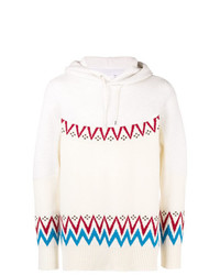 Sacai Hooded Intarsia Pullover