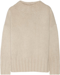 The Row Meme Oversized Merino Wool And Cashmere Blend Sweater