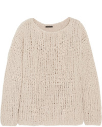 Donna Karan New York Chunky Knit Cashmere Sweater Ecru