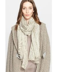 Fabiana Filippi Silk Wool Burnout Scarf