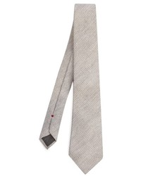 Brunello Cucinelli Diagonal Knit Wool And Silk Blend Tie