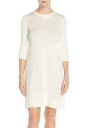 Nubby knit shift sweater dress medium 370192