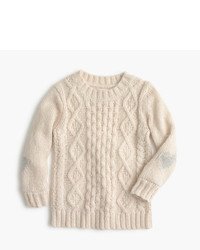 J.Crew Girls Heart Cable Sweater