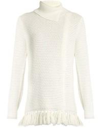 Proenza Schouler Fringed Hem Knit Sweater