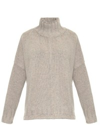 Melange wool knit sweater medium 405299