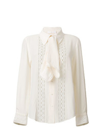 Chloé Ruffled Lace Insert Blouse