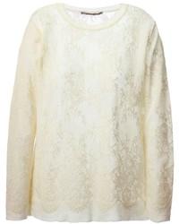 Ermanno Scervino Woven Lace Sweater