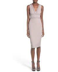 Missguided Grommet Detail Sheath Midi Dress