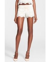 Beige Lace Shorts
