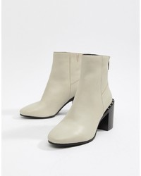 ASOS DESIGN Everett Leather Ankle Boots