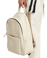 Brunello Cucinelli Pebbled Leather Backpack Cream