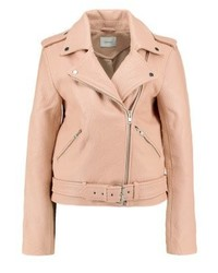 Gestuz Zilla Leather Jacket Rugby Tan