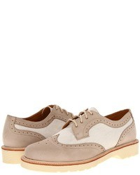 Beige Leather Brogues