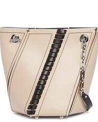 Mini hex whipstitch leather bucket bag black medium 1027130
