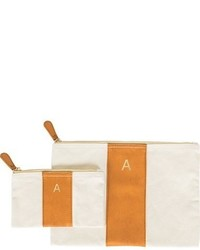 Cathy's Concepts Personalized Faux Leather Clutch Brown