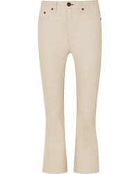 Rag & Bone Hana Cropped Leather Flared Pants