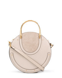 Beige Leather Handbag
