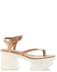 Stella McCartney Altea Faux Leather Block Heel Platform Sandals
