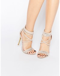 Public Desire Lubna Nude Strap Heeled Sandals