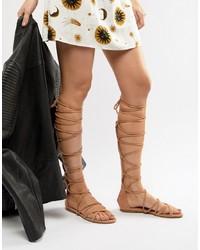 RAID Stone High Leg Gladiator Sandals