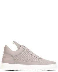 Low top tone perforated sneakers medium 596658