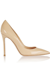 Gianvito Rossi 105 Patent Leather Pumps Neutral