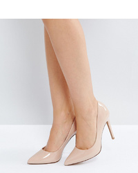 ASOS DESIGN Paris Pointed High Heeled Court Shoes In Almond