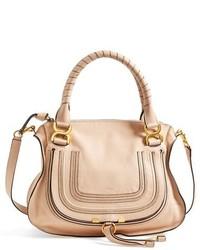 Chloe medium marcie leather satchel black medium 127270