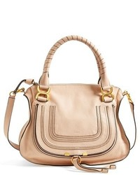 Chloe medium marcie leather satchel white medium 127270