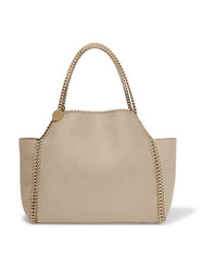 Stella McCartney The Falabella Medium Reversible Faux Brushed Leather Tote
