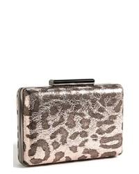 Beige Leopard Clutch