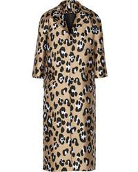 Adam lippes leopard jacquard coat medium 35604