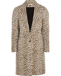 Diane von Furstenberg Britta Leopard Jacquard Coat