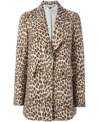 Stella McCartney Leopard Peaked Lapel Coat